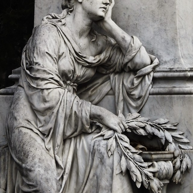 """Grieving Widow"" stock image"