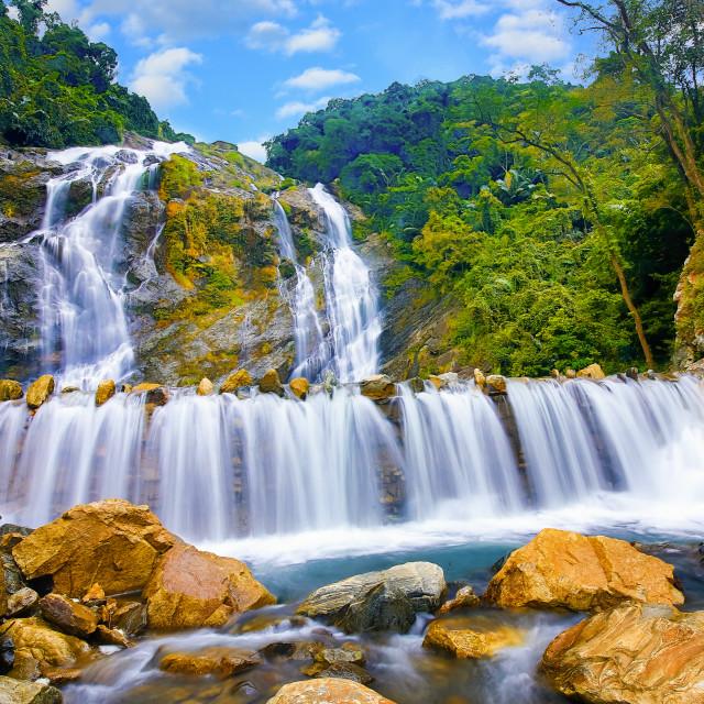 """""""White waterfall"""" stock image"""