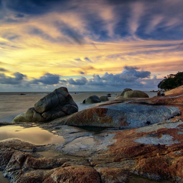 """Tanjung Bajau Beach"" stock image"