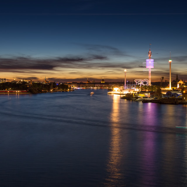 """Gröna Lund Amusement Park Stockholm"" stock image"
