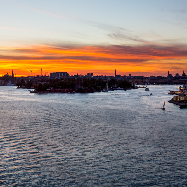 """""""Sunset over Stockholm"""" stock image"""