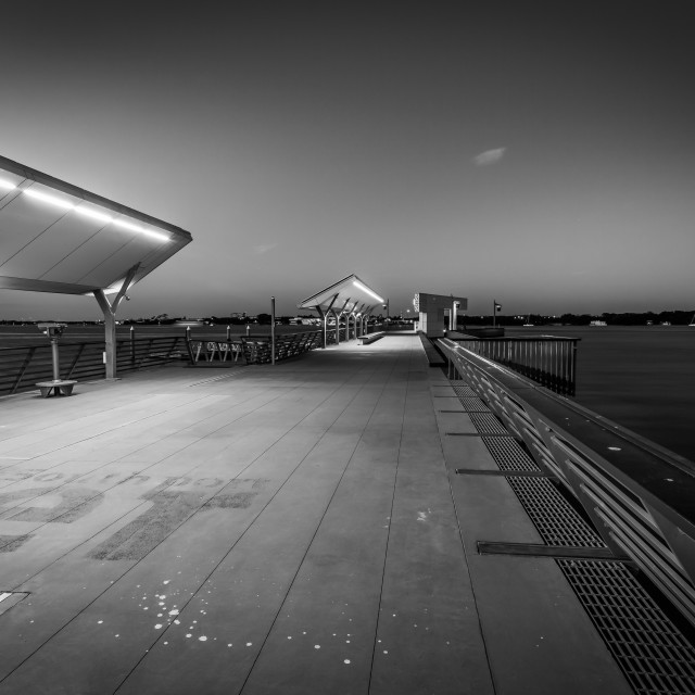 """""""The Jetty - Southport"""" stock image"""