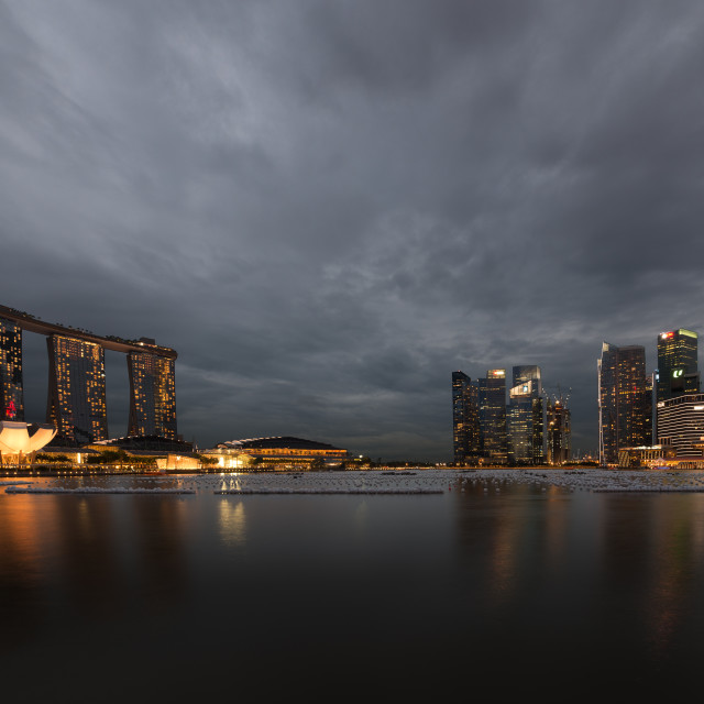 """Singapore Skyline"" stock image"