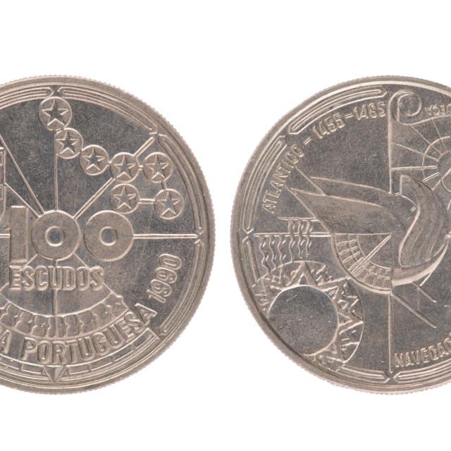 """""""Portuguese 100 Escudos Coin"""" stock image"""
