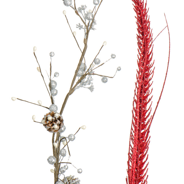 """""""Red and silver Christmas decoration"""" stock image"""