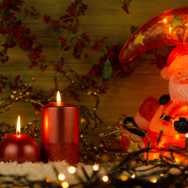 """Two candles Christmas decoration"" stock image"