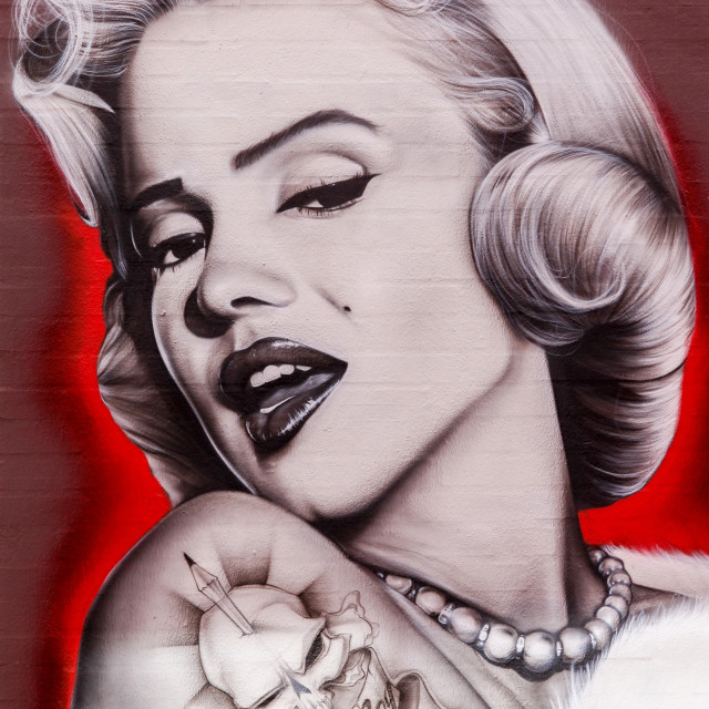 """Street art of Marilyn Monroe"" stock image"
