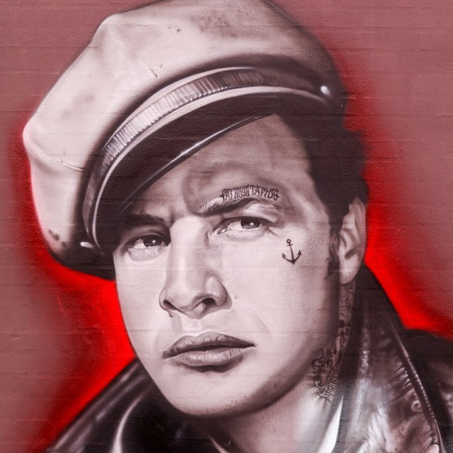 """Street art of Marlon Brando"" stock image"