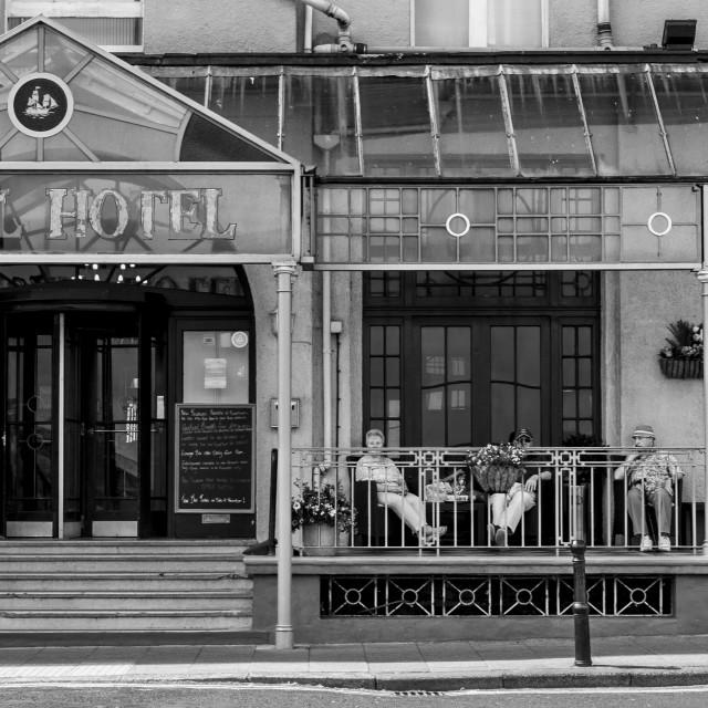"""""""Royal Hotel, Whitby UK"""" stock image"""
