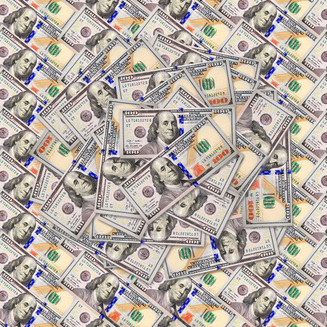 """dollar banknotes background"" stock image"