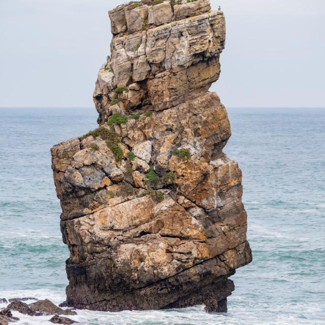 """""""Nau dos Corvos in the Carvoeiro Cape"""" stock image"""
