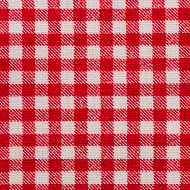 """Red and white tablecloth"" stock image"