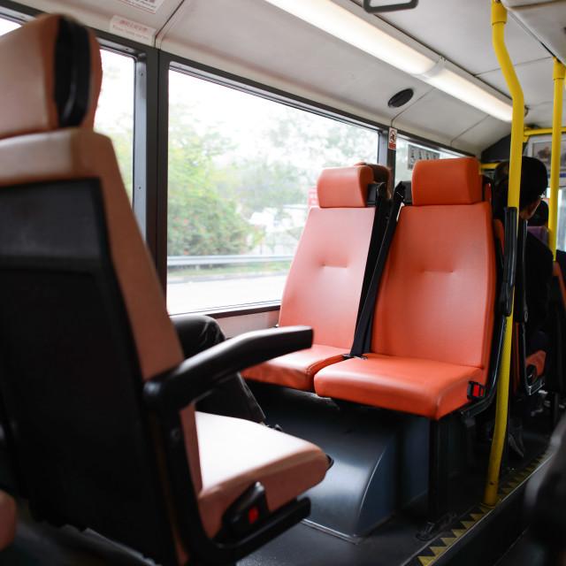 """Double decker bus interior"" stock image"