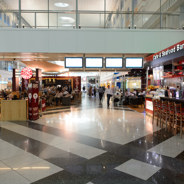 """Dubai International Airport interior"" stock image"