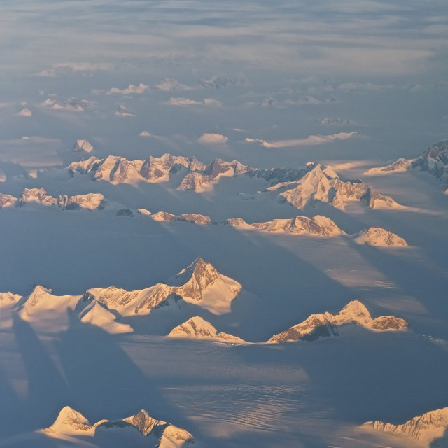 """Flying over Greenland"" stock image"