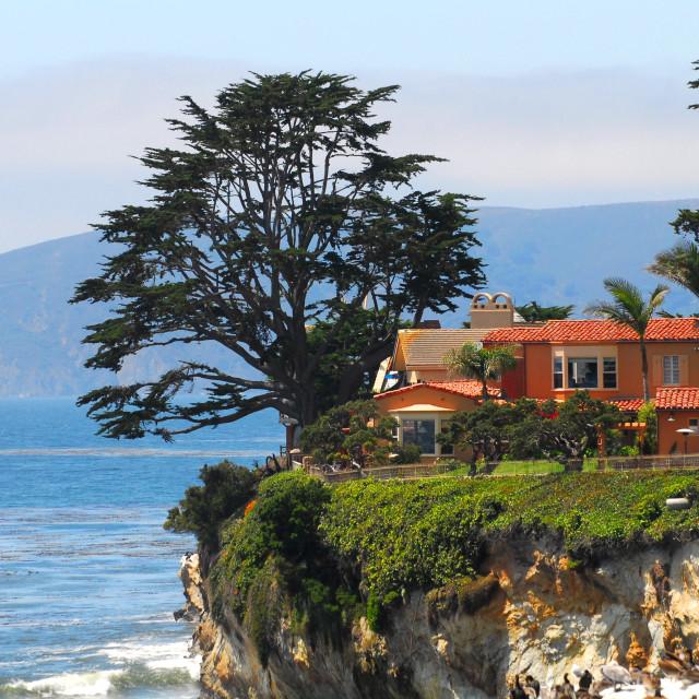 """Luxury home along the California coast"" stock image"