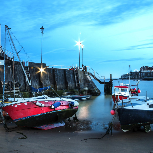 """""""Boats in the Harbour."""" stock image"""