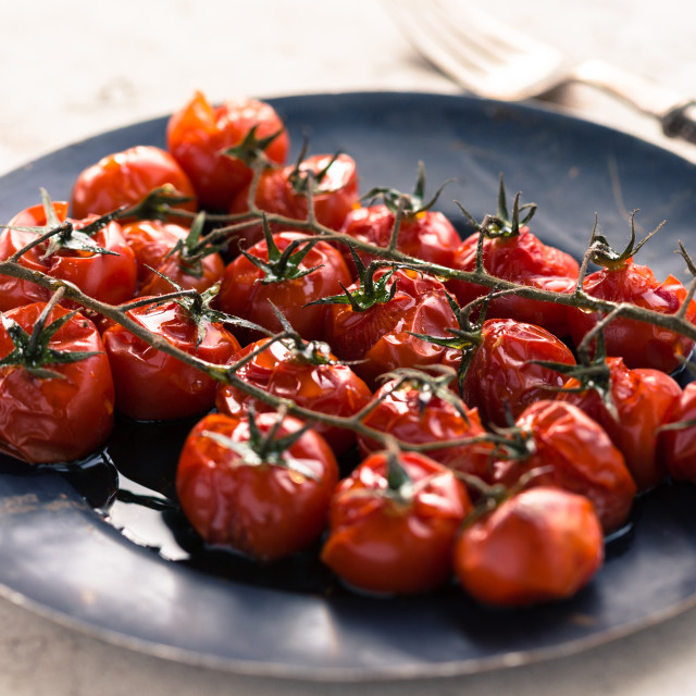 """""""Baked cherry tomatoes"""" stock image"""