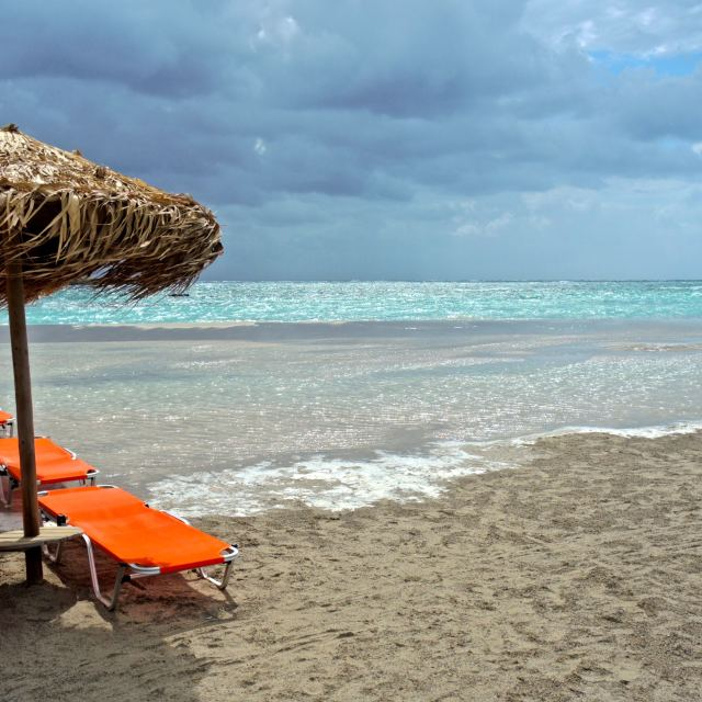 """""""Elafonissi beach, on a cloudy day"""" stock image"""