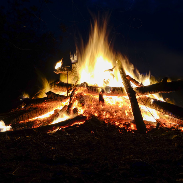"""Bonfire, campfire"" stock image"