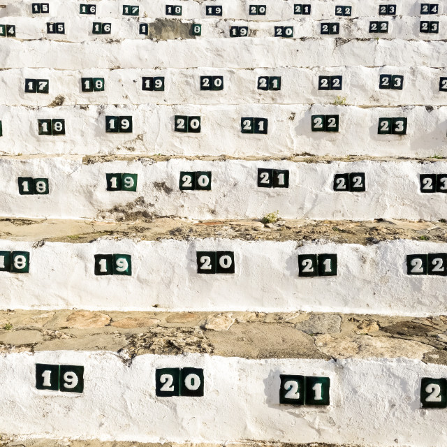 """""""numbered seats at bullring"""" stock image"""