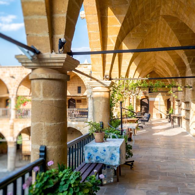"""Caravanserai Buyuk Han (the Great Inn) Interior. Nicosia, Cyprus"" stock image"