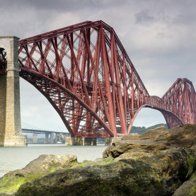 """Forth (Rail) Bridge, Scotland"" stock image"