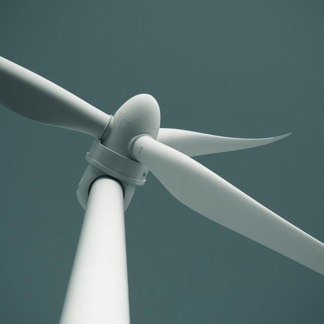 """Close up of wind turbine"" stock image"