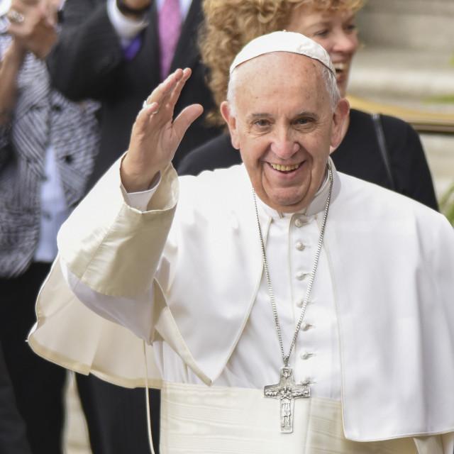 """""""Pope Francis in Philadelphia"""" stock image"""