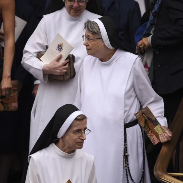 """Benedictine Nuns"" stock image"