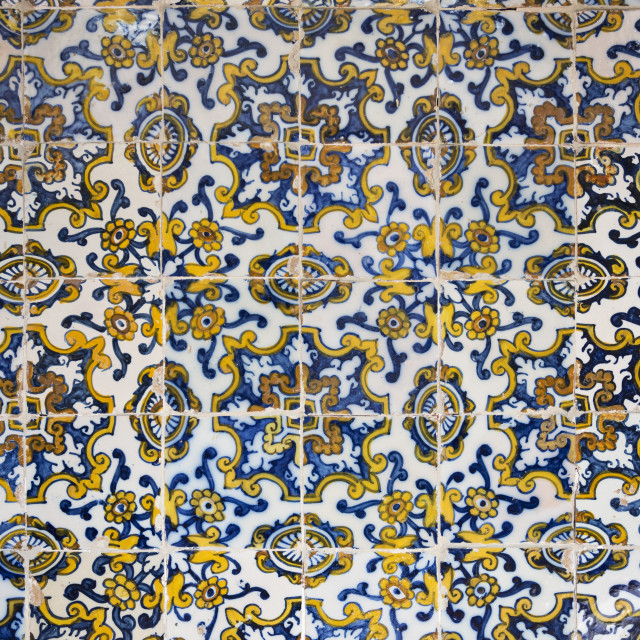 """""""Panel of Portuguese Tiles"""" stock image"""