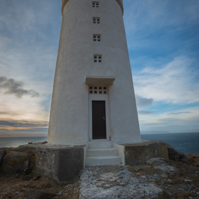 """Vatnsnesvegur Lighthouse, Iceland"" stock image"