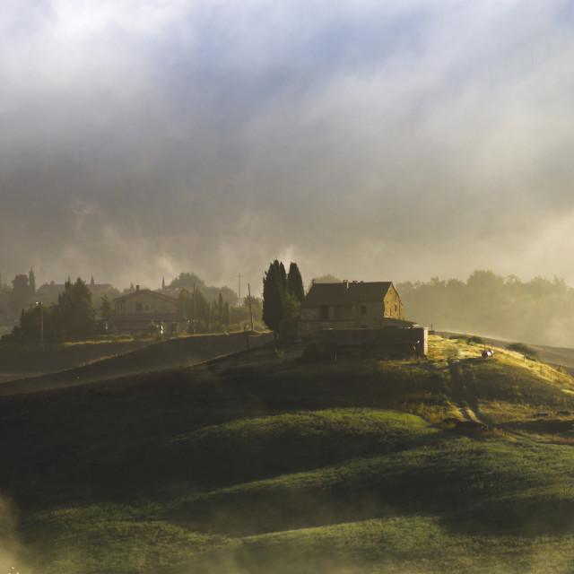 """Tuscany farms"" stock image"