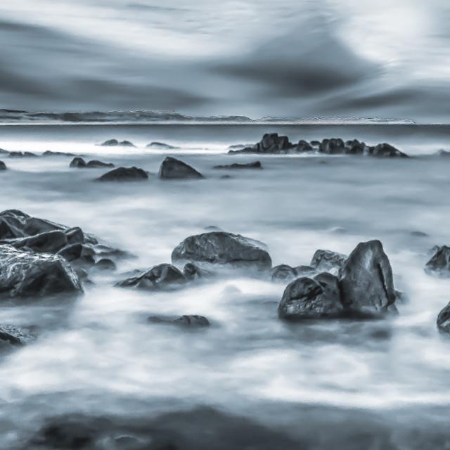 """The east coast of Scotland"" stock image"