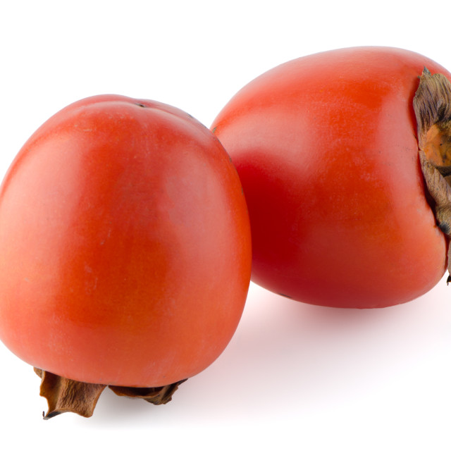 """""""Red ripe persimmons"""" stock image"""