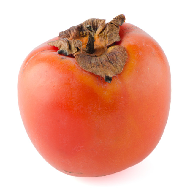 """Orange ripe persimmon"" stock image"
