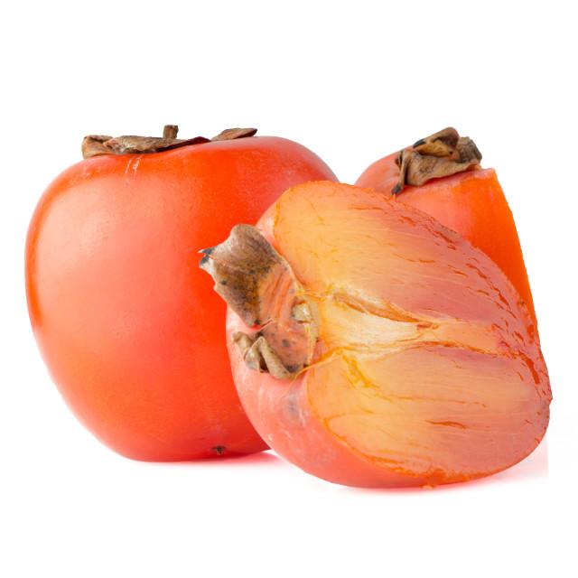 """Ripe persimmons"" stock image"