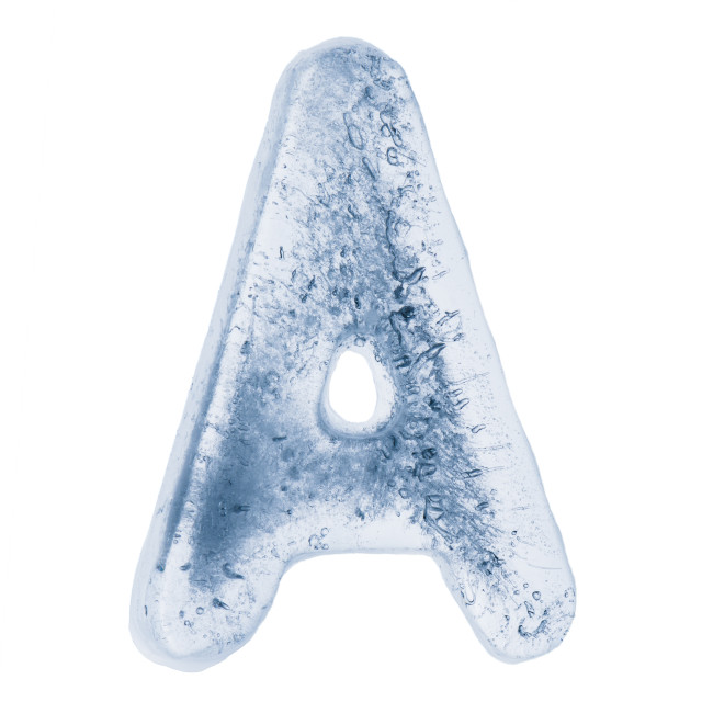 """""""Letter A in ice"""" stock image"""