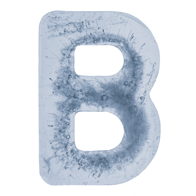 """""""Letter B in ice"""" stock image"""