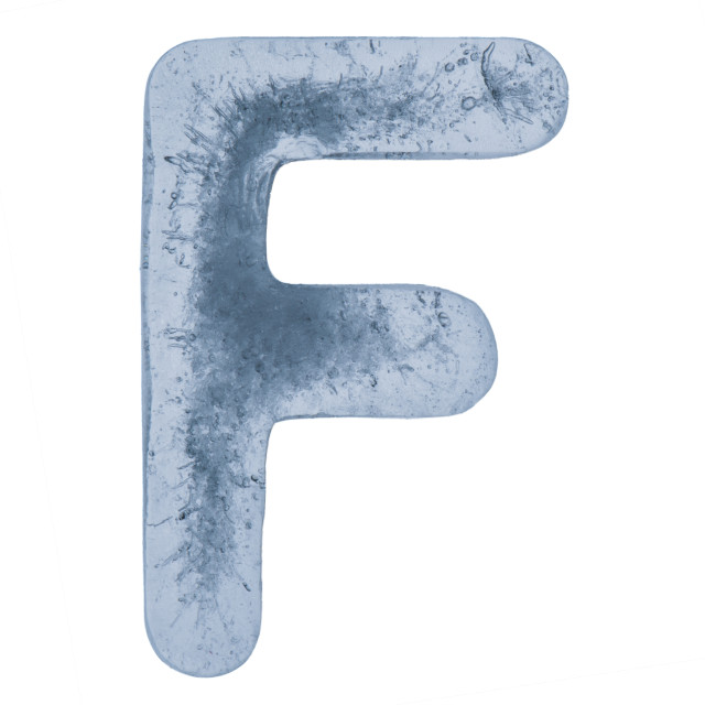 """""""Letter F in ice"""" stock image"""
