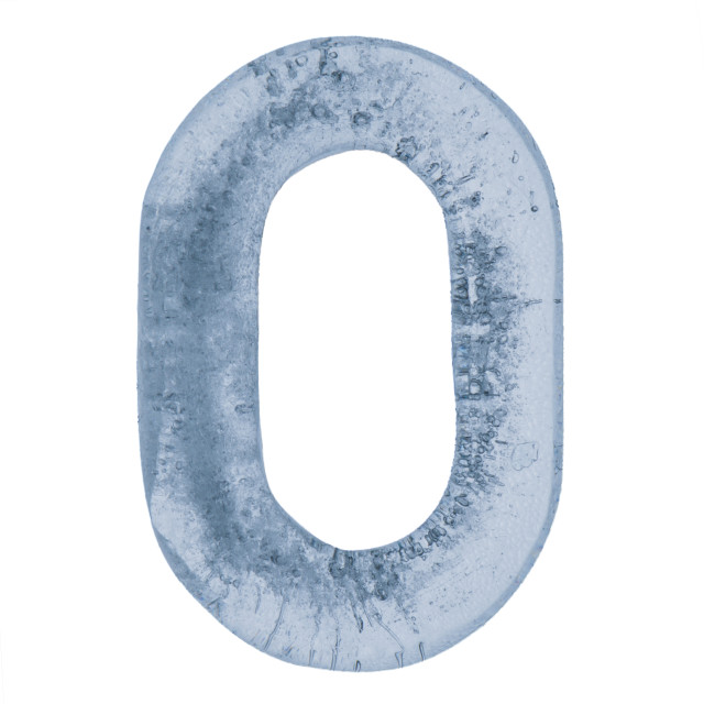 """""""Letter O in ice"""" stock image"""