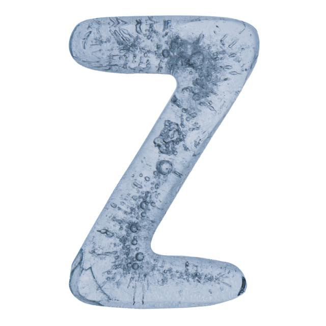 """""""Letter Z in ice"""" stock image"""