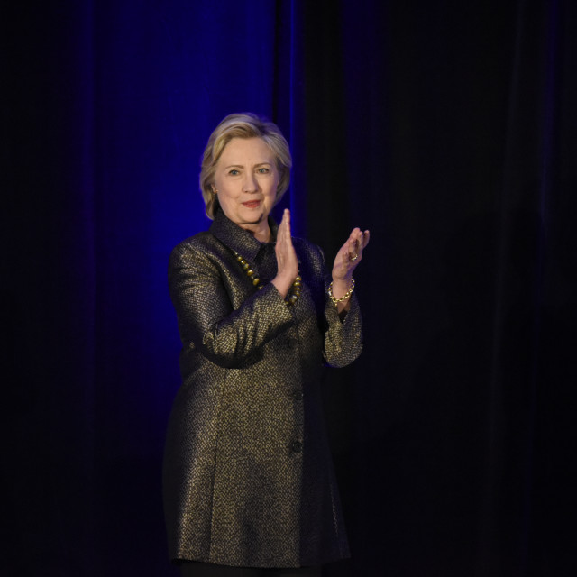 """""""Candidate Hillary Clinton"""" stock image"""