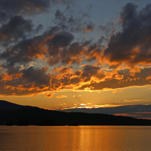 """Moosehead Lake, Maine"" stock image"