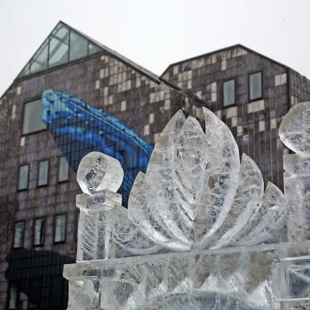 """Iceland, ice sculptures by Gordon,17,Plato Gradec,Zagreb-Best European Advent Destination 2015."" stock image"