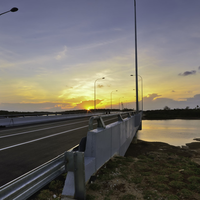 """""""road and the sunset"""" stock image"""
