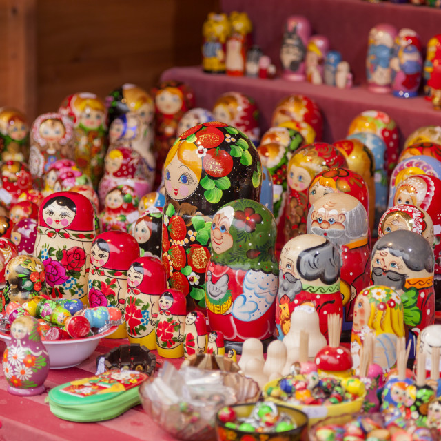 """Russian Matryoshka Dolls"" stock image"