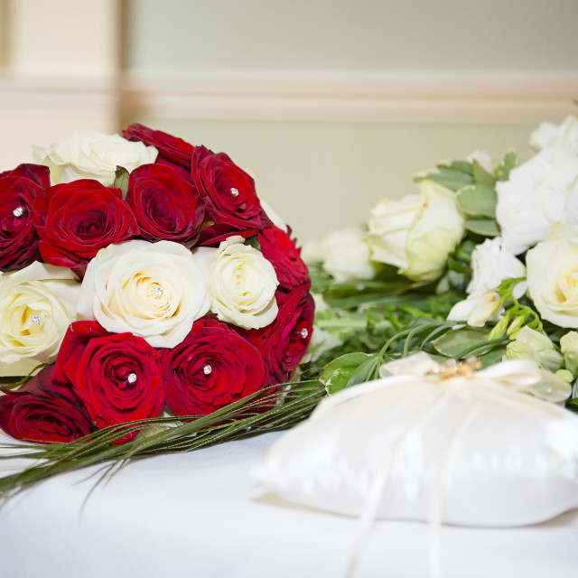 """""""Bouquet on table"""" stock image"""