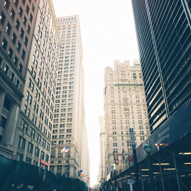 """Manhattan Street"" stock image"