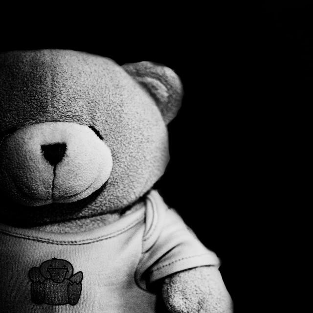 """Dark side of teddy"" stock image"